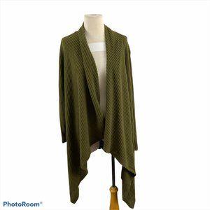 NWT BOBEAU Olive Green Long Cardigan (1X)